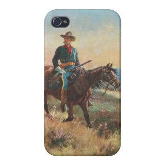 Vilda westernvintageCowboy iPhone 4 Skydd