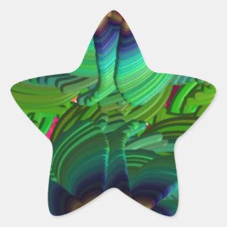 vildblomma stjärnformat klistermärke