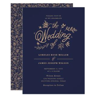 Vildblommabröllopinbjudan 12,7 X 17,8 Cm Inbjudningskort