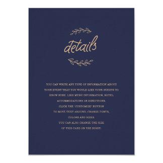 Vildblommabröllopmellanlägg 11,4 X 15,9 Cm Inbjudningskort