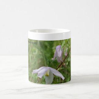 Vildblommamugg för purpurfärgad Clematis Kaffemugg