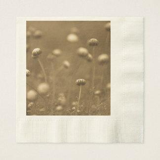 Vildblommar i Sepia Pappersservett