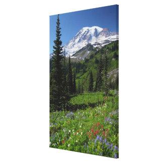Vildblommar på Mount Rainier Canvastryck