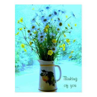 Vildblommar som är tänkande av dig vykort