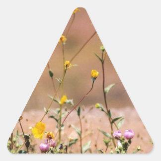 Vildblommar Triangelformat Klistermärke
