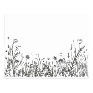 vildblommar vykort