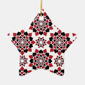 Vildkort Stjärnformad Julgransprydnad I Keramik