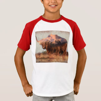 Vildyak - Yak nepal - dubbel exponeringskonst - T-shirts