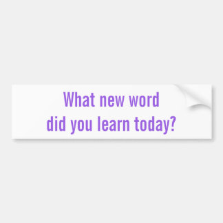 Vilket nya ord läde du i dag? Klistermärke