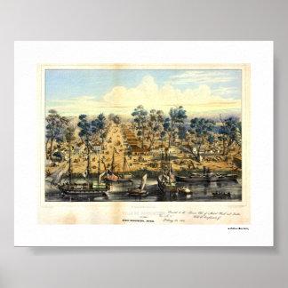 Ville de Sacramento, 1849. Affisch