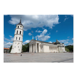 Vilnius domkyrka fototryck