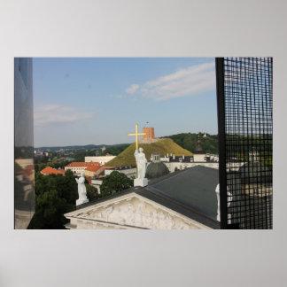 Vilnius Litauen kor, torn Poster
