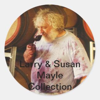 Vin är mitt liv runt klistermärke