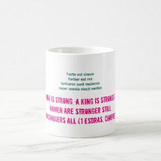 Vin är starkt, kvinnor är starkare stillbild… kaffemugg