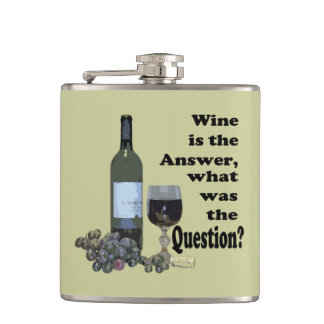 Vin är svaret vad var ifrågasättaflaskan fickplunta