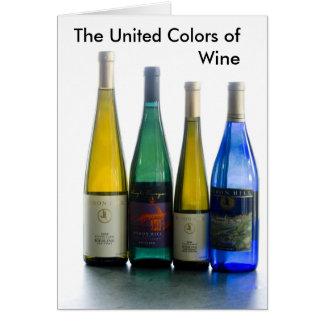 vin de eniga färgerna av vin hälsningskort