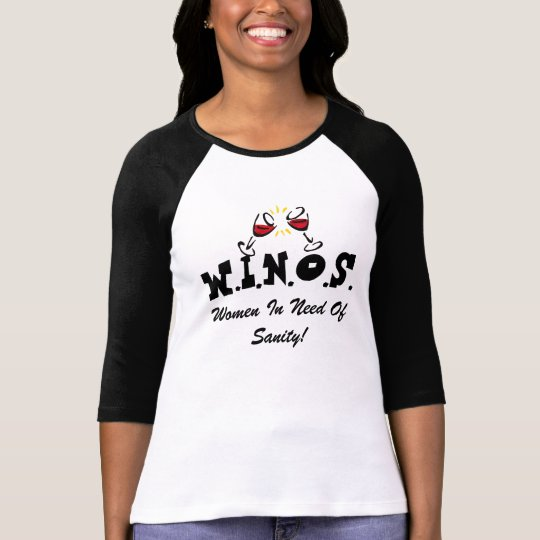 Vin för Sanity! Svart T-shirt