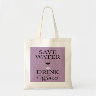 Vin för sparavattendrink tygkasse