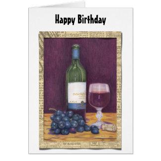 Vin- och druvakonstgåvor hälsningskort