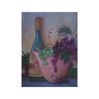 Vin och druvor canvastryck