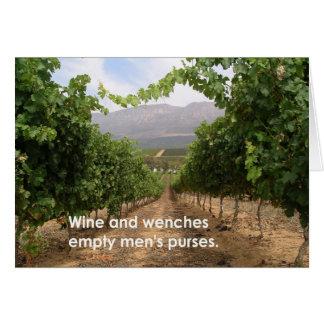 Vin och… hälsningskort