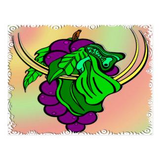 Vin på vinen vykort
