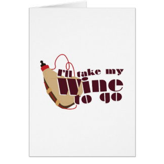 Vin som går hälsningskort