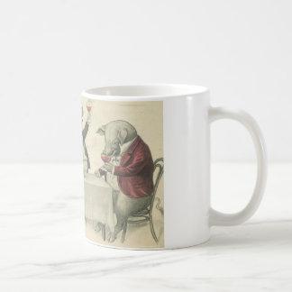 vinang-grisar och bunke kaffemugg