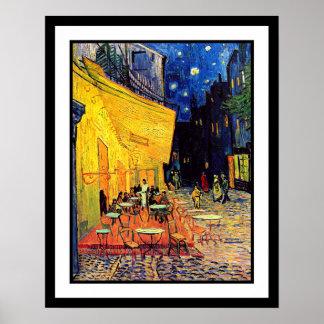Vincent Van Gogh - Cafeterrass på nattkonst Poster