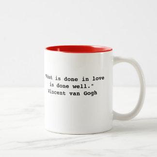 Vincent Van Gogh citationsteckenmugg Två-Tonad Mugg