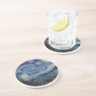 Vincent Van Gogh för Starry natt målning Underlägg Sandsten