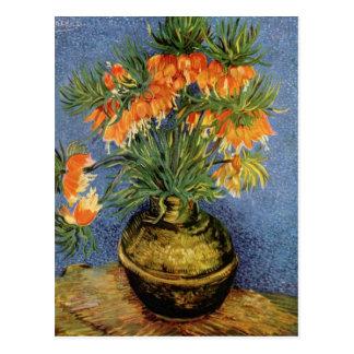 Vincent Van Gogh - Fritillaries i en förkoppravas Vykort