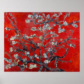 Vincent Van Gogh ~-grenar med mandelblommar Poster