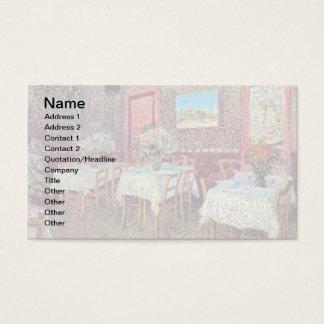 Vincent Van Gogh - insida av en restaurang Visitkort