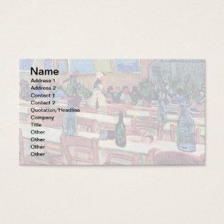 Vincent Van Gogh - insida av restaurangen Visitkort