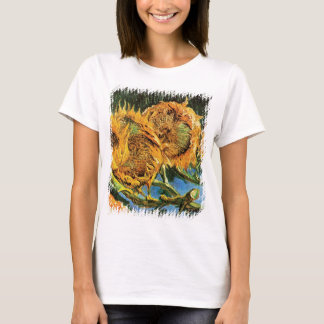 Vincent Van Gogh - konst för fyra klippt solrosor T Shirt