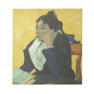 Vincent Van Gogh - madam Ginoux med bokar Anteckningsblock