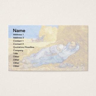 Vincent Van Gogh - middag vila från arbete - konst Visitkort