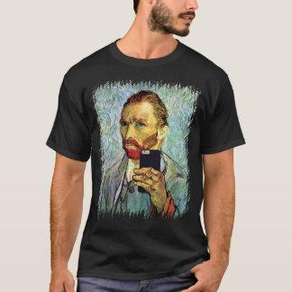 Vincent Van Gogh mobiltelefonSelfie självporträtt Tee Shirt