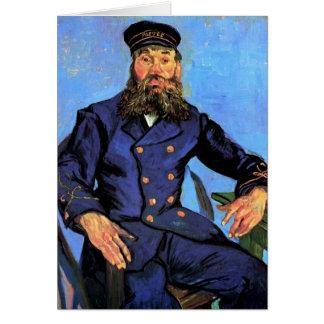 Vincent Van Gogh - porträtt av brevbäraren Hälsningskort