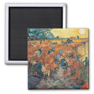 Vincent Van Gogh   röda vingårdar på Arles, 1888 Magnet