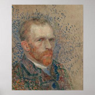 Vincent Van Gogh - självporträtt Poster