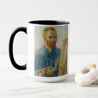 Vincent Van Gogh - självporträtt & solrosmugg Mugg