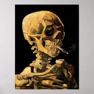 Vincent Van Gogh - skalle med den brinna Poster