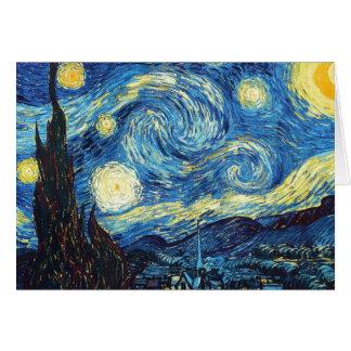 Vincent Van Gogh - Starry natt Hälsningskort