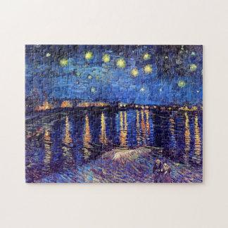 Vincent Van Gogh - Starry natt över Rhonen Pussel