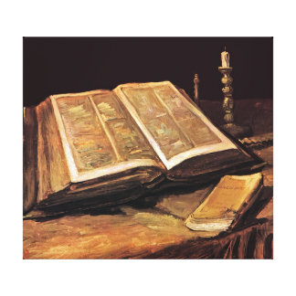 Vincent Van Gogh - stilleben med bibeln Canvastryck