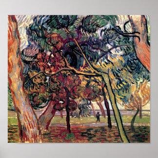Vincent Van Gogh - studie av grästrädkonst Poster