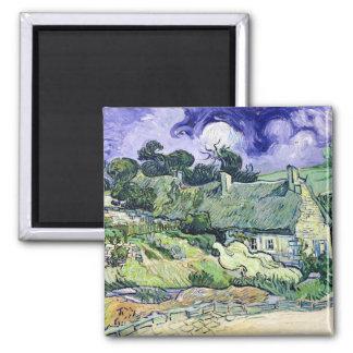 Vincent Van Gogh | Thatched stugor på Cordeville Magnet