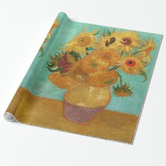 Vincent Van Gogh tolv solrosor i en vas Presentpapper